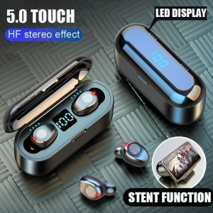 3In1 Wireless Bluetooth Earphones Headset Phone Stand + Powerbank