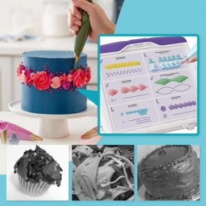 CakeDeco™  Cake Decorating Practice Board  Icing Piping DIY Practice Drawing Board Template